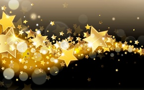 Picture stars, glitter, lights, background, gold, sparkle, stars, glow, background, Shine, golden
