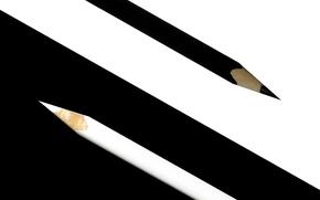 Picture white, black, pencils