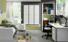 Picture design, style, room, interior, children's