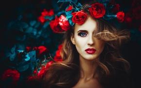 Picture eyes, face, woman, lips, girl, woman, beautiful, beauty