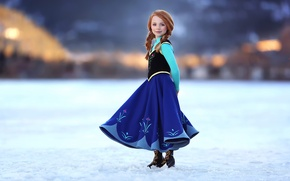 Picture smile, girl, braids, redhead, Little Princess