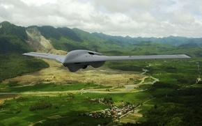 Wallpaper Lockheed Martin, Fury Block 10, drone, flight