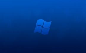 Picture minimalism, Windows, blue background, hi-tech
