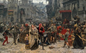 Picture the city, picture, painting, the middle ages, painting, Carl Gustaf Hellqvist