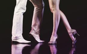 Picture legs, woman, man, dance, shoes