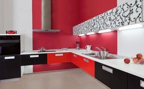 Picture style, interior, kitchen, design. modern
