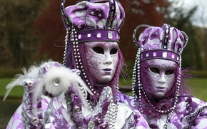 Picture pair, outfit, carnival, costumes