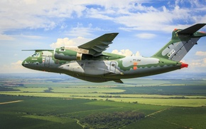 Picture FAB, Embraer, KC-390, military aircraft, Force Air Brazilian, Brazilian Air Force