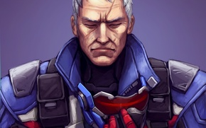 Wallpaper face, mask, soldiers, blizzard, overwatch, Jack Morrison, soldier 76