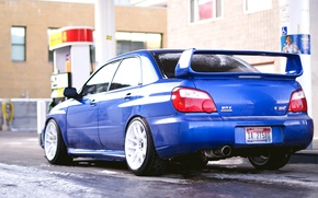 Picture Winter, Subaru, Impreza, Snow, Car, Car, STI, Snow, Subaru, Wallpapers, Wallpaper, STI, Back, Ipreza