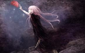 Picture hair, pink, mirai nikki, stretches, Gasai Yuno