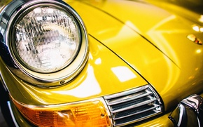 Picture yellow, Porsche, the front, 911T