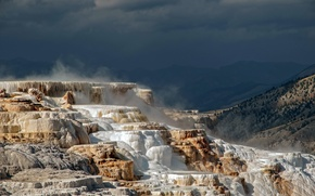 Picture USA, Wyoming, Yellowstone N.P., Yellowstone terraces