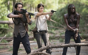 Picture Maggie, The Walking Dead, The walking dead, Steven Yeun, Michonne, Danai Gurira, Lauren Cohan, Glenn