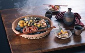 Wallpaper food, sticks, food, delicious, seafood