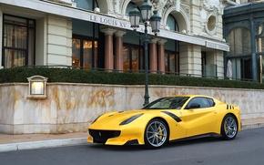 Picture Ferrari, yellow, street, F12tdf