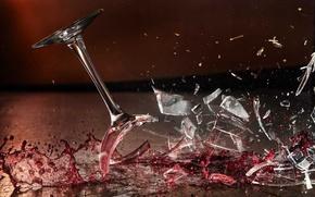 Picture LIQUID, BLOW, GLASS, GLASS, DROPS, WINE, SQUIRT, MACRO, FRAGMENTS, DROP