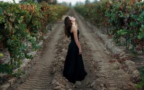 Picture girl, mood, garden