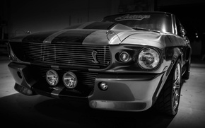 Picture Mustang, Ford, Shelby, GT500, Ford, Eleanor, Muscle car, Silver, Rechange