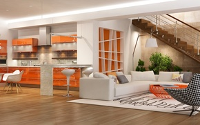 Picture Design, Sofa, Ladder, Interior, Living room, Chairs
