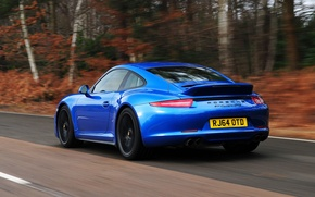 Picture 911, Porsche, car, Porsche, Coupe, back, exhausts, Carrera 4 GTS