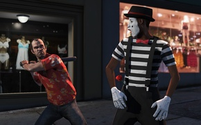 Picture clown, bit, gta, Trevor, Grand Theft Auto 5