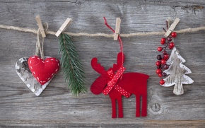 Picture decoration, cherry, toys, tree, heart, hearts, toys, New Year, Merry Christmas, cherry, clip, Christmas tree, …