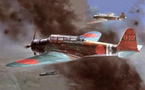 Picture aircraft, war, airplane, aviation, dogfight