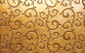 Picture pattern, texture, Golden color