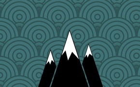Picture mountain, minimalism, texture, slope