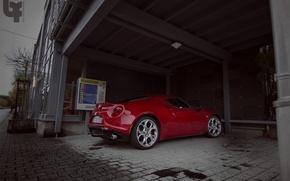 Picture Alfa Romeo, Red, Sport Car