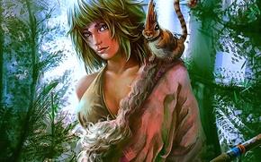 Picture girl, fantasy, hunter