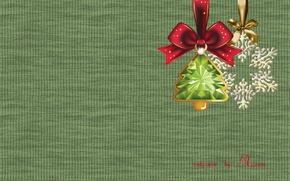 Wallpaper new year, tree, snowflake, decoration, knitting
