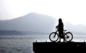Picture light, bike, background