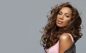 Picture girl, background, curls, singer, Leona Lewis