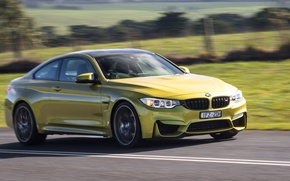 Wallpaper speed, road, auto, road, car, Competition Package, Coupe, M4, BMW