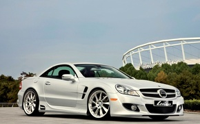Wallpaper Mercedes, Tuning, White