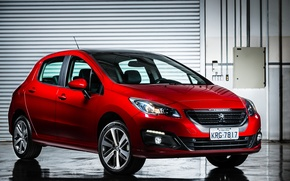 Wallpaper Peugeot, red, 308, Peugeot