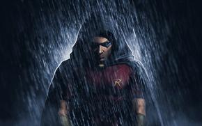 Picture Robin, DC Comics, Red Robin, rain, Tim Drake
