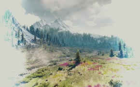 Wallpaper landscape, mountains, beauty, The Witcher 3