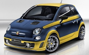 Picture blue, background, the front, Fiat, hatchback, Fiat, Abarth, Of Abart, 695, Out Of This Series