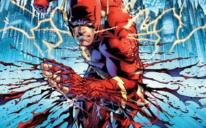 Picture fantasy, lightning, art, comics, mask, superhero, DC Comics, Flash, costumes, artworks