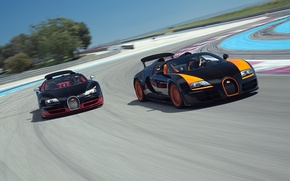 Picture Roadster, Bugatti, Bugatti, Veyron, Veyron, supercar, racing track, the front, and, Grand Sport, Vitesse, WRC …