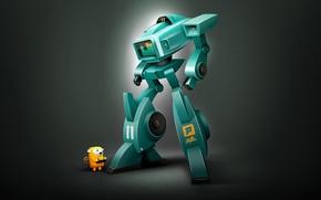 Wallpaper Robot, digital art, spektrum XL11