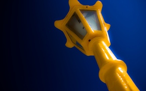 Picture sky, yellow, blue, lamppost