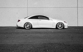 Picture Mercedes, white, side, V12, CL600