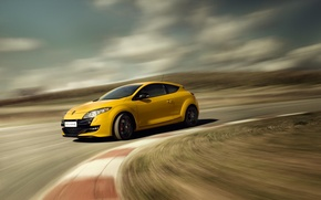 Picture Renault, Reno, Yellow, Megane, R.S., Renault Sport