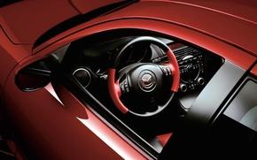 Picture the wheel, salon, mazda, rx8, red car, Mazda RX 8