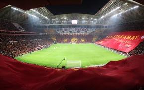 Picture Galatasaray, stadium, Turkey, turk telekom, Turk Telekom Arena, banners, Galatasaray