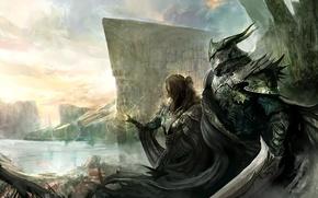 Picture girl, sword, armor, warrior, warrior, Kekai Kotaki